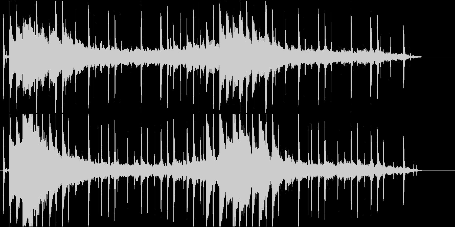 やさしくて落ち着きあるピアノBGMの未再生の波形