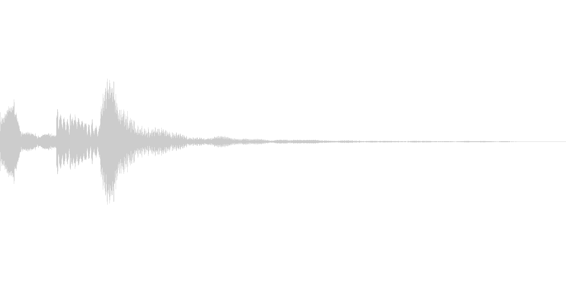 高めの音の効果音の未再生の波形
