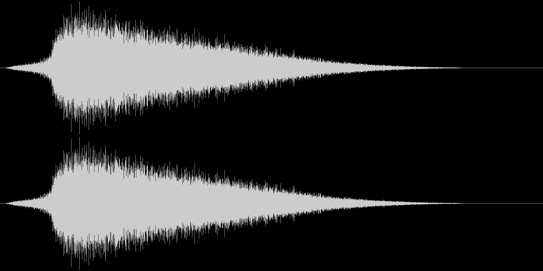シュワ~。焼ける・蒸発する音B(短め)の未再生の波形