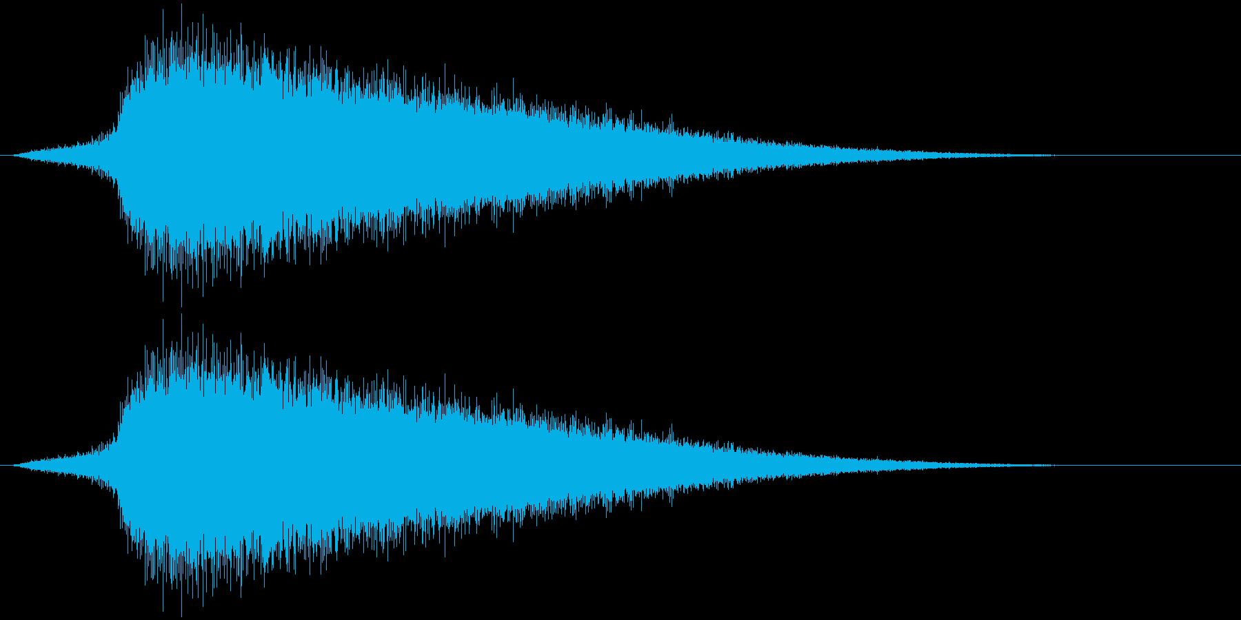 シュワ~。焼ける・蒸発する音B(短め)の再生済みの波形
