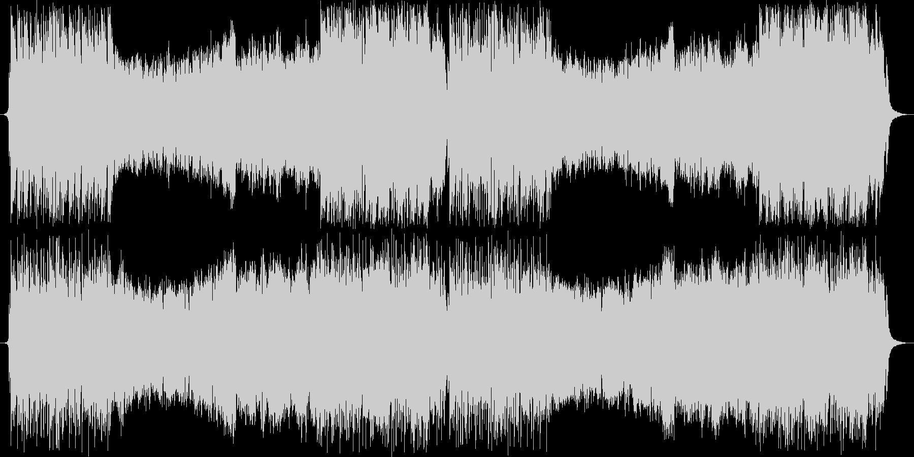 オーケストラ+シンセのメインテーマ曲の未再生の波形