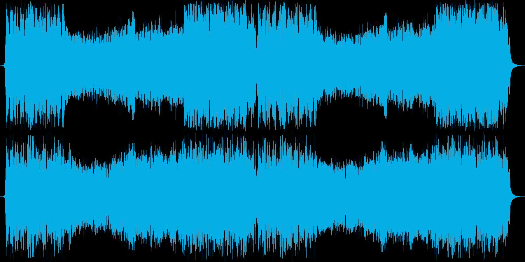 オーケストラ+シンセのメインテーマ曲の再生済みの波形
