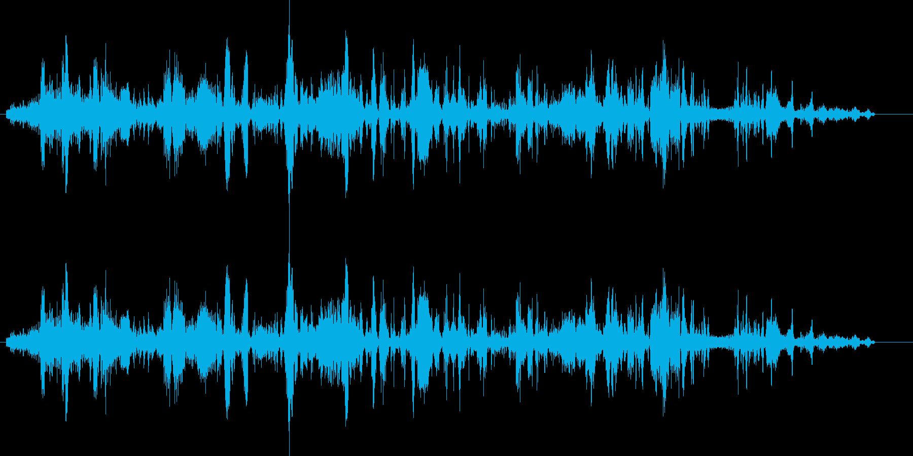 ラジオから出る声の再生済みの波形