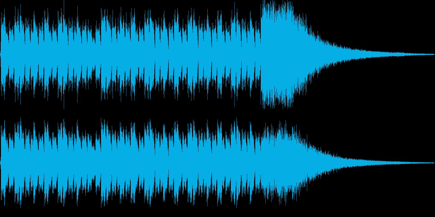 ダラララララララ(ドラムロール)の再生済みの波形