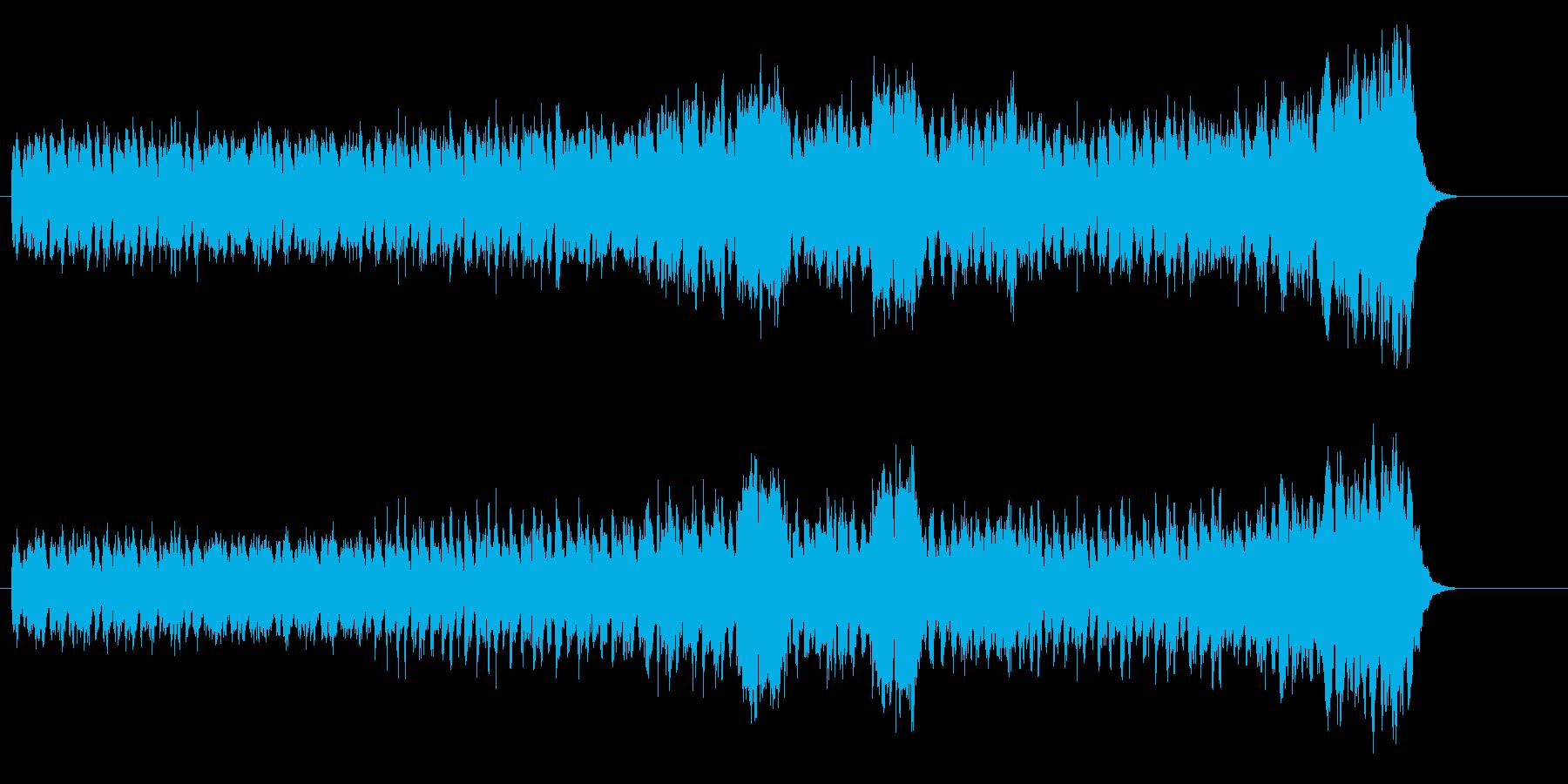 低音のピアノが躍動するドキュメント向けの再生済みの波形