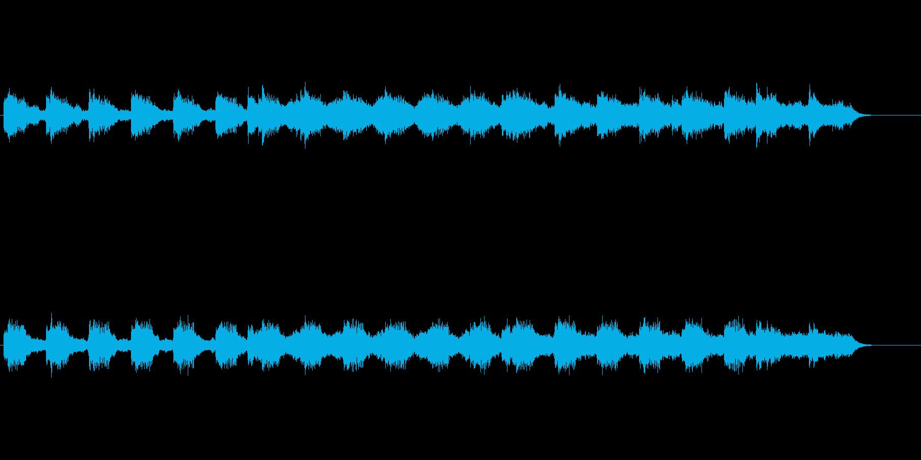 涼味溢れる環境音楽の再生済みの波形
