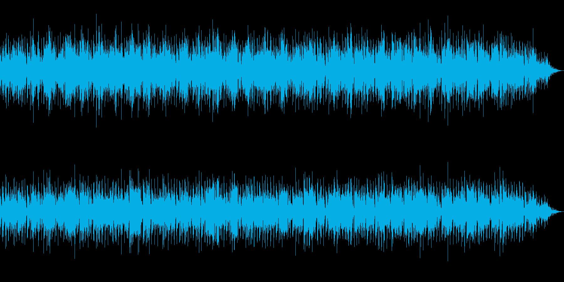 フラクタルやサイバー空間のイメージの再生済みの波形