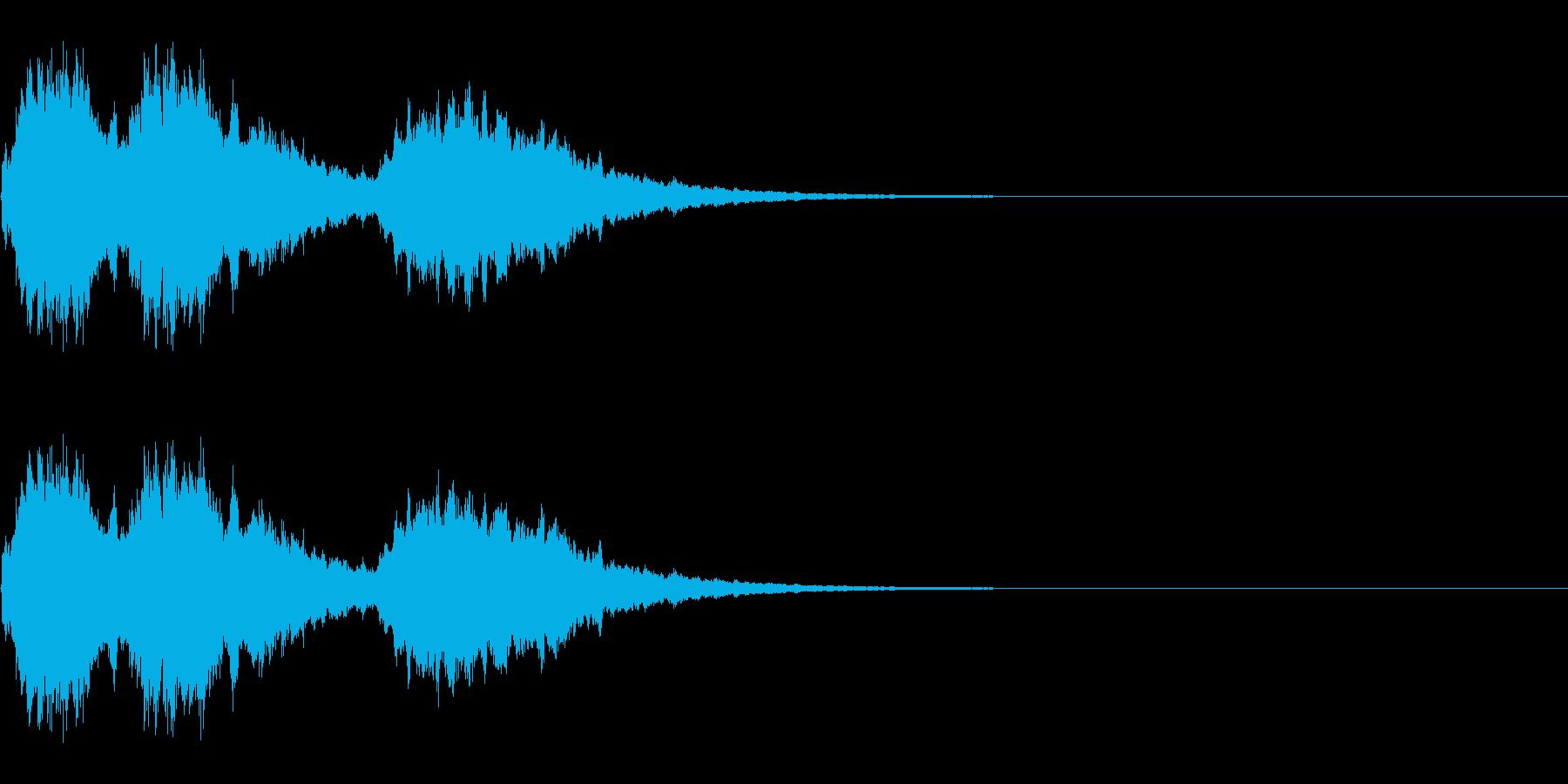 長めのキラキラ の再生済みの波形