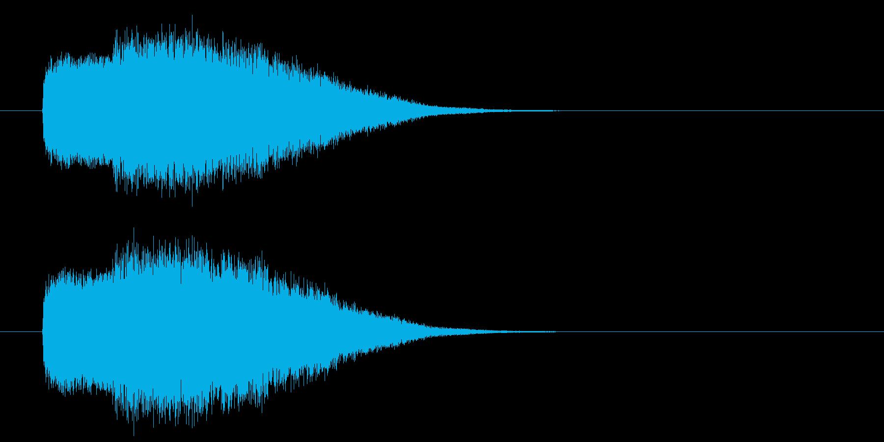 魔法起動SEの再生済みの波形