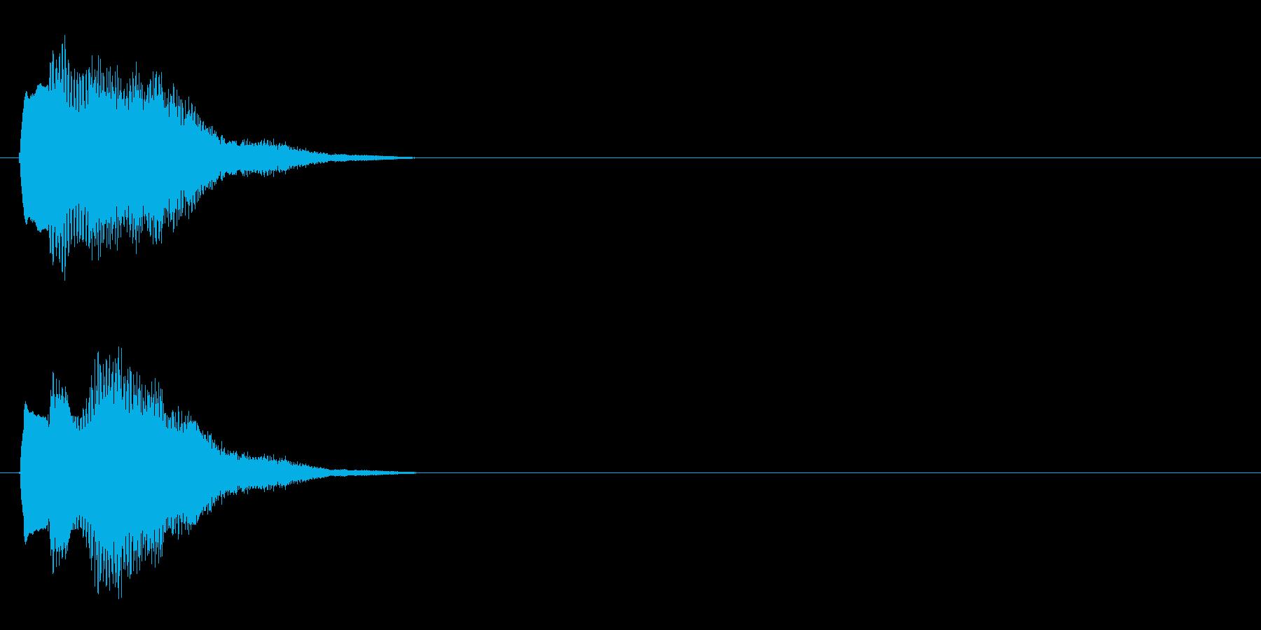 汎用 キラキラ系03(中) 決定音の再生済みの波形