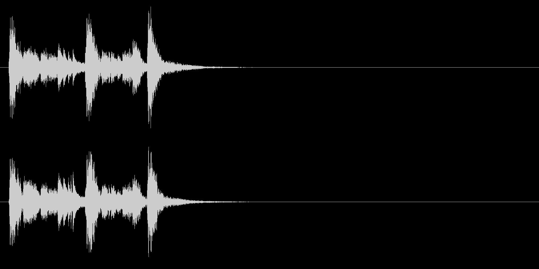 ジングル(コミカル・タッチ)の未再生の波形