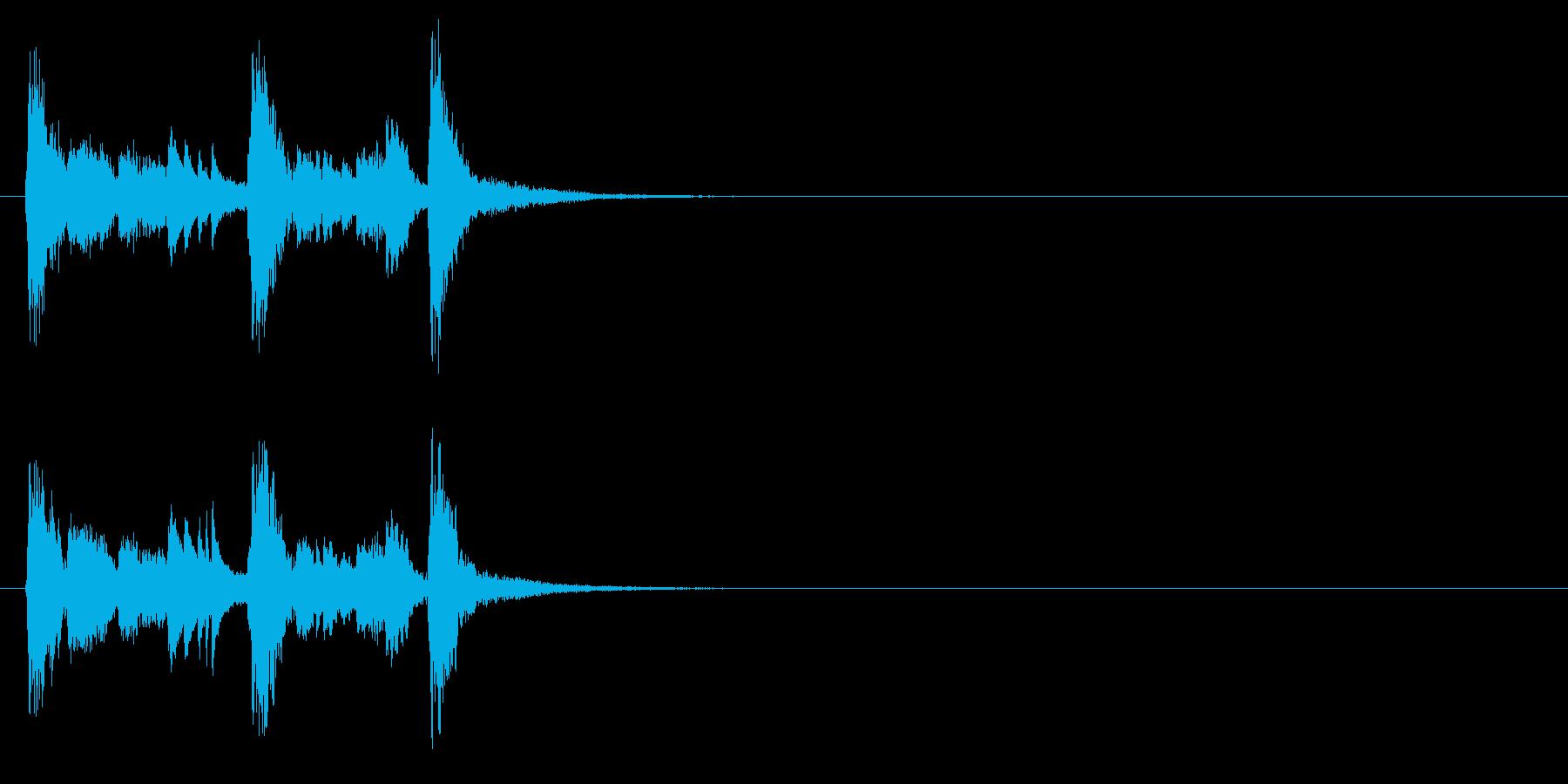 ジングル(コミカル・タッチ)の再生済みの波形