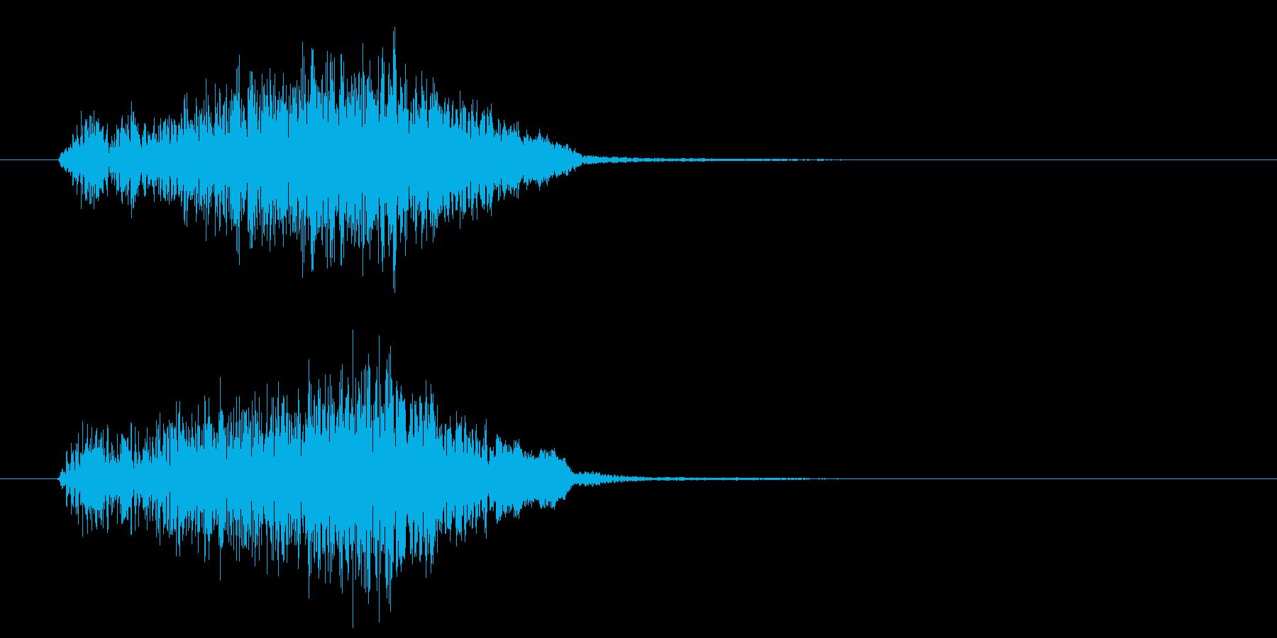 コミカルな場面展開の再生済みの波形