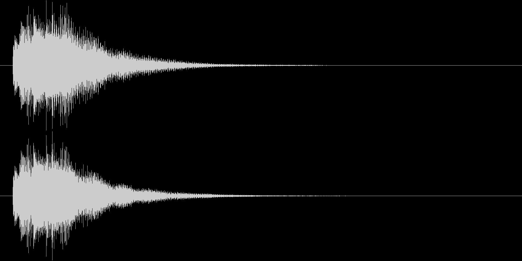 リッチなハープシコード音、不正解時SEの未再生の波形