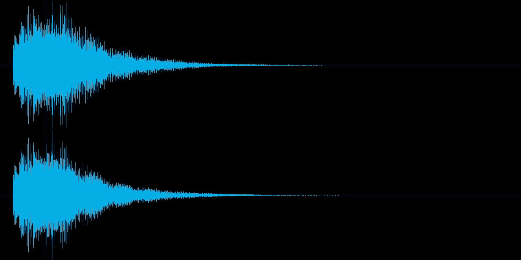 リッチなハープシコード音、不正解時SEの再生済みの波形