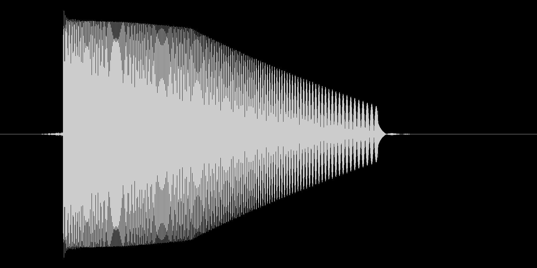 ゲーム(ファミコン風)レーザー音_033の未再生の波形