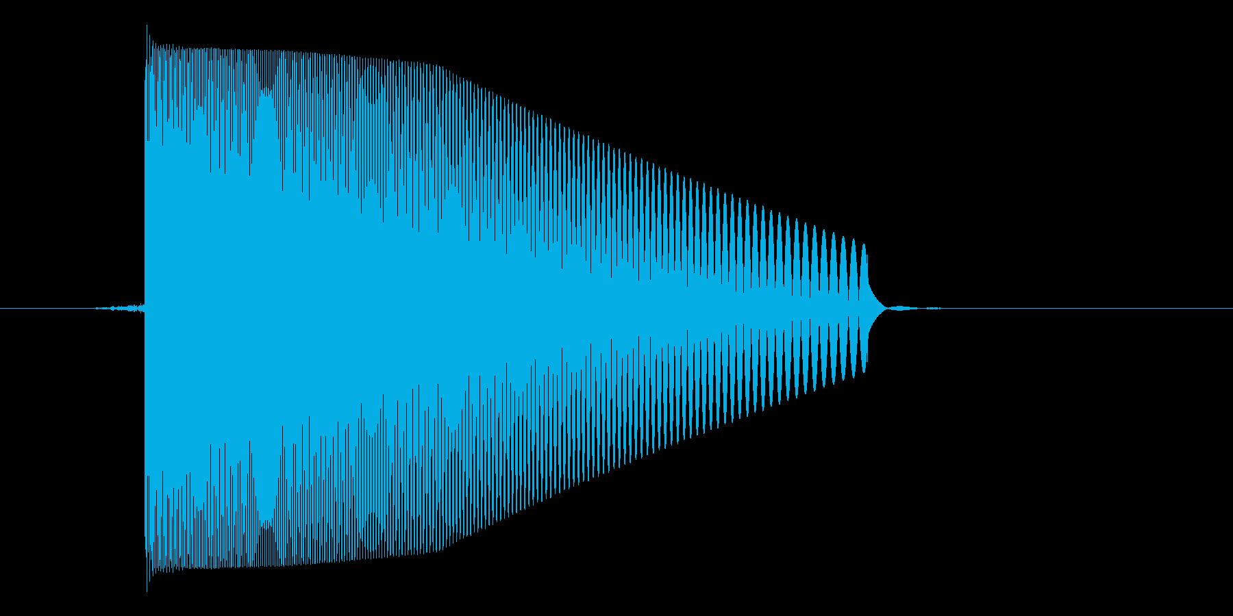 ゲーム(ファミコン風)レーザー音_033の再生済みの波形