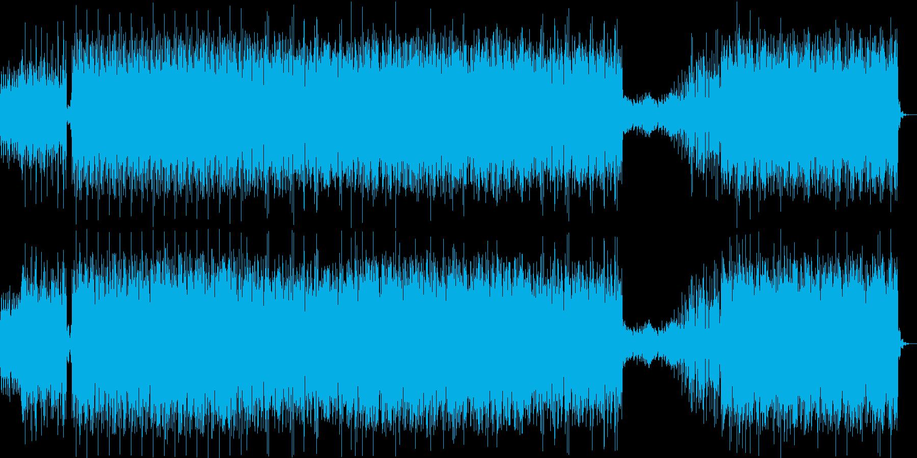 激しく妖しいテクノインストの再生済みの波形