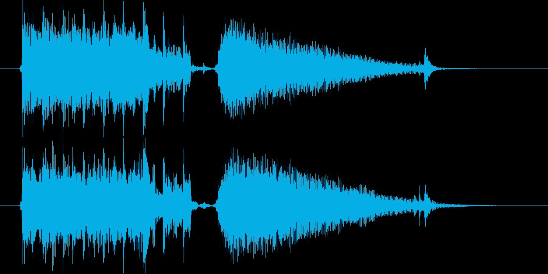 カントリー風のジングルです。の再生済みの波形