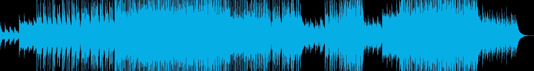夜明けをイメージしたヒーリングポップの再生済みの波形