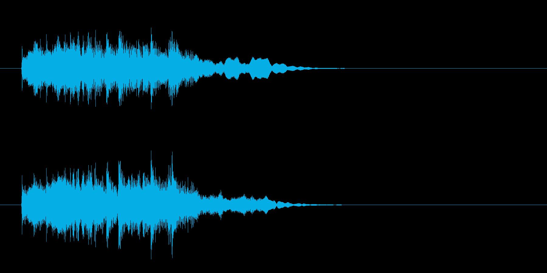 アコースティック・アルペジオのジングルの再生済みの波形