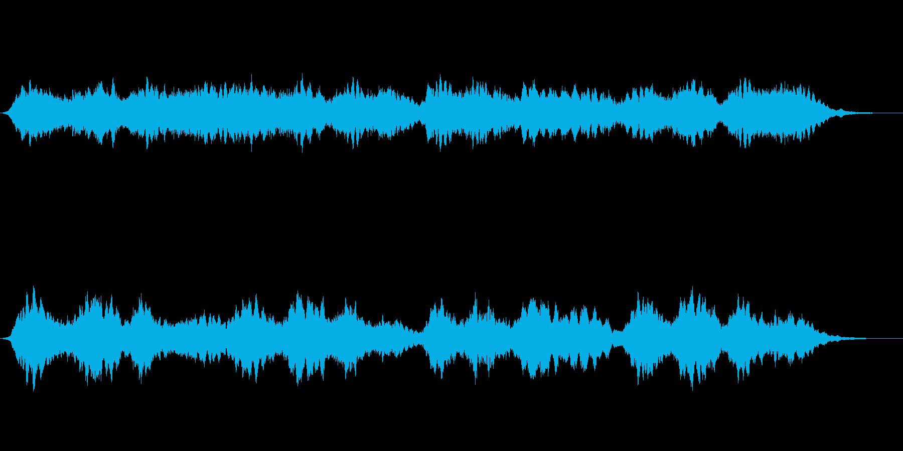 アンビエントな1:38秒の小品の再生済みの波形