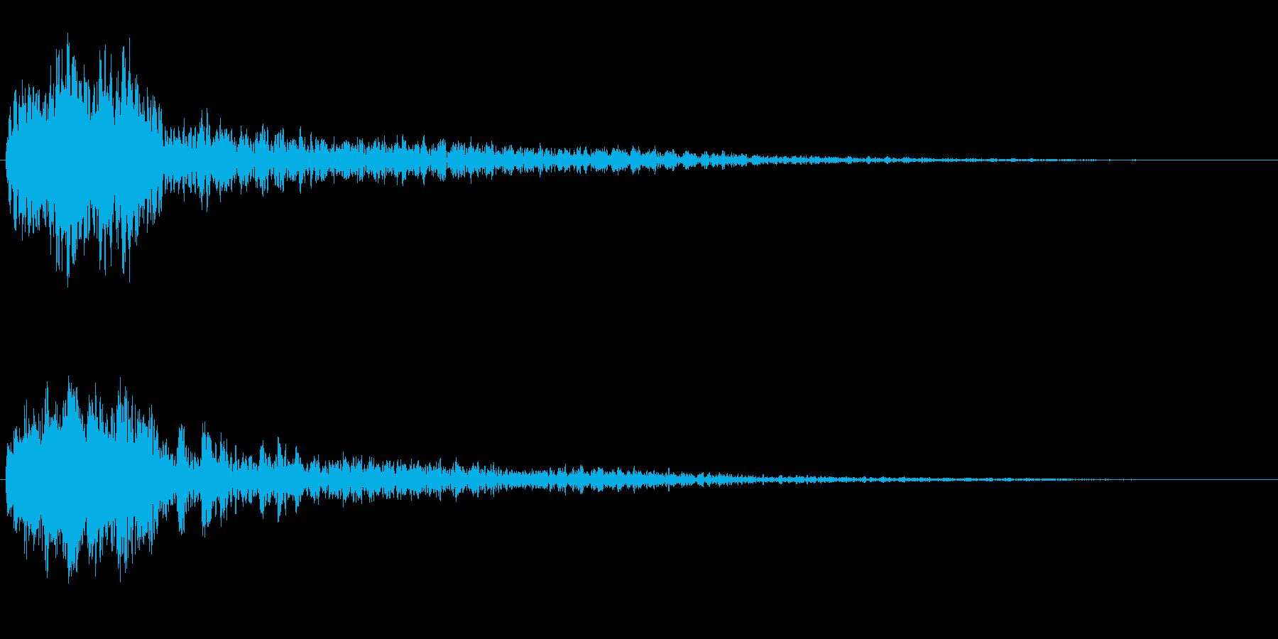 サスペンスに最適!ピアノの弦を弄ぶ音39の再生済みの波形