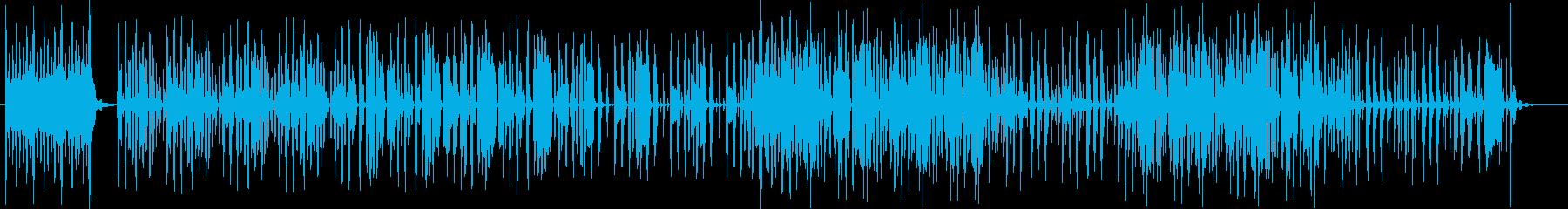 コミカルな登場、入場曲の再生済みの波形