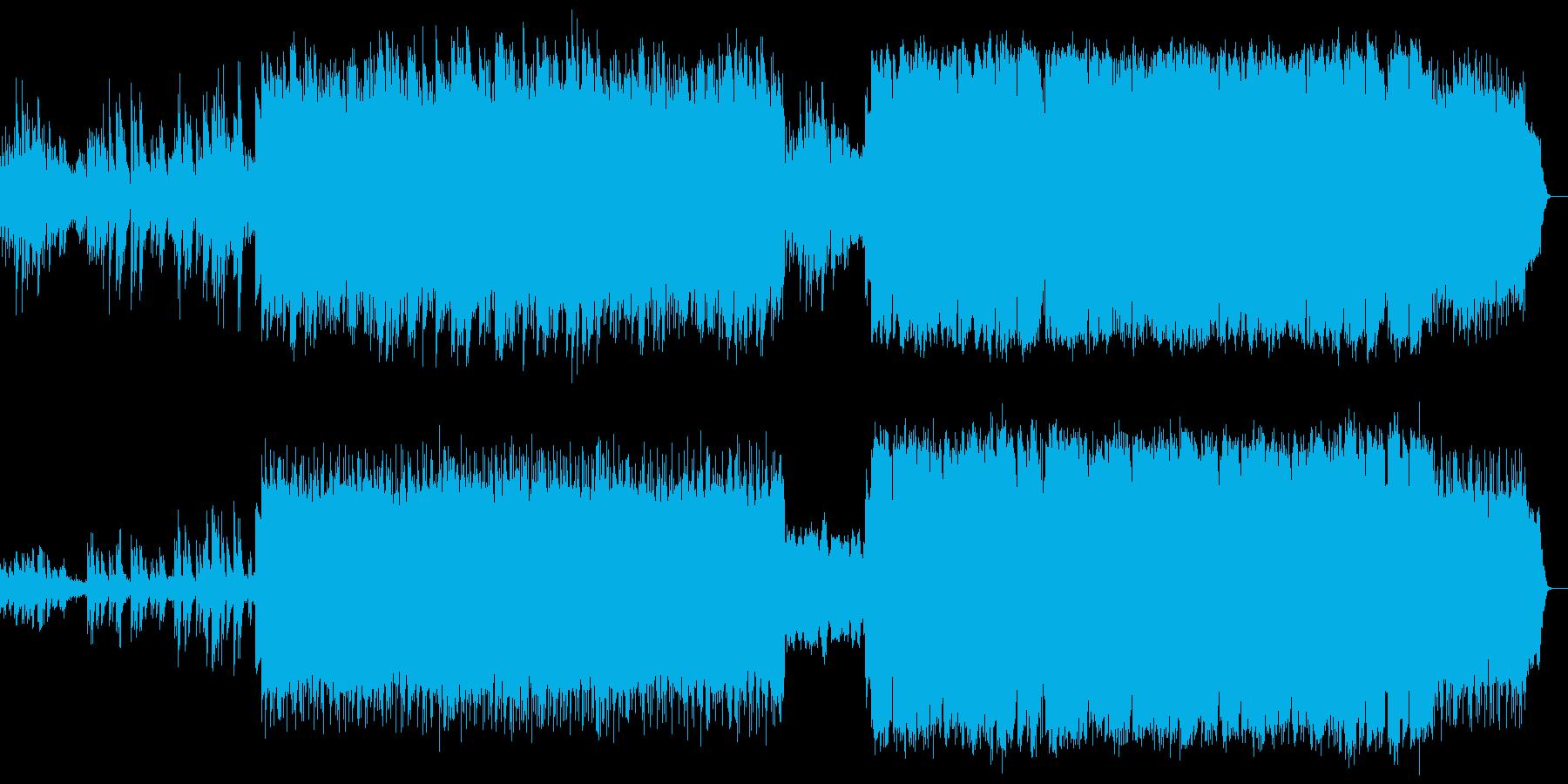 ピアノとSAXの切なく甘い3連のバラードの再生済みの波形
