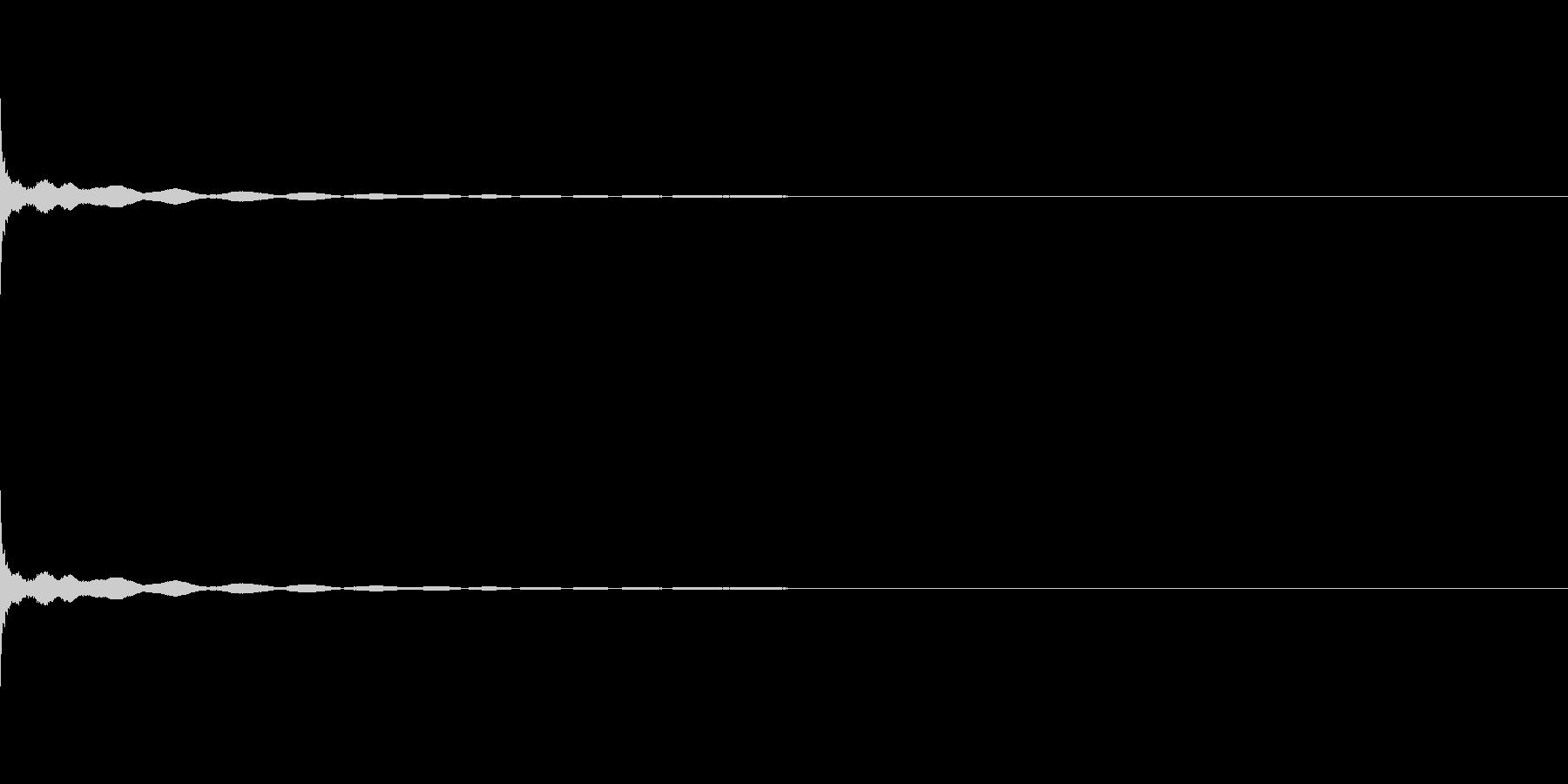 フィンガーシンバル、ティンシャの未再生の波形