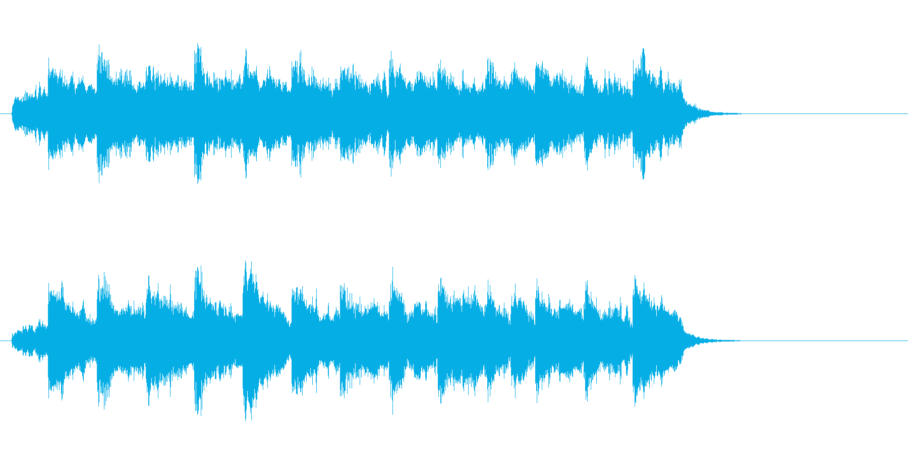 穏やかなセミクラ風ポップ(イントロ)の再生済みの波形