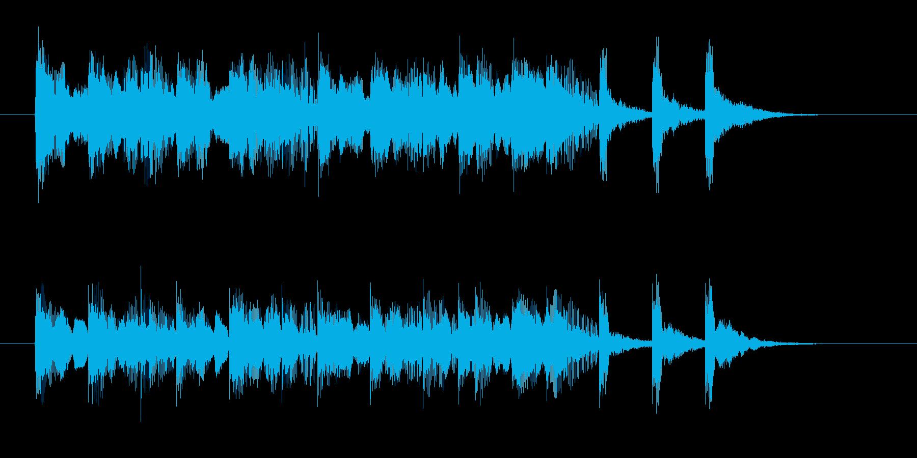 ゆったり軽やかなシンセサウンド短めの再生済みの波形
