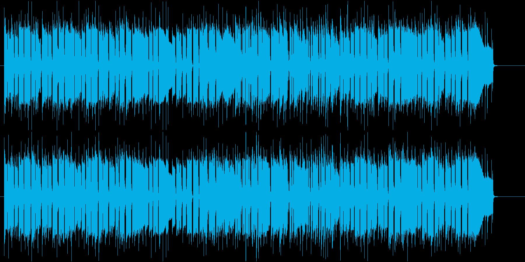 明るく軽快な楽曲です。の再生済みの波形