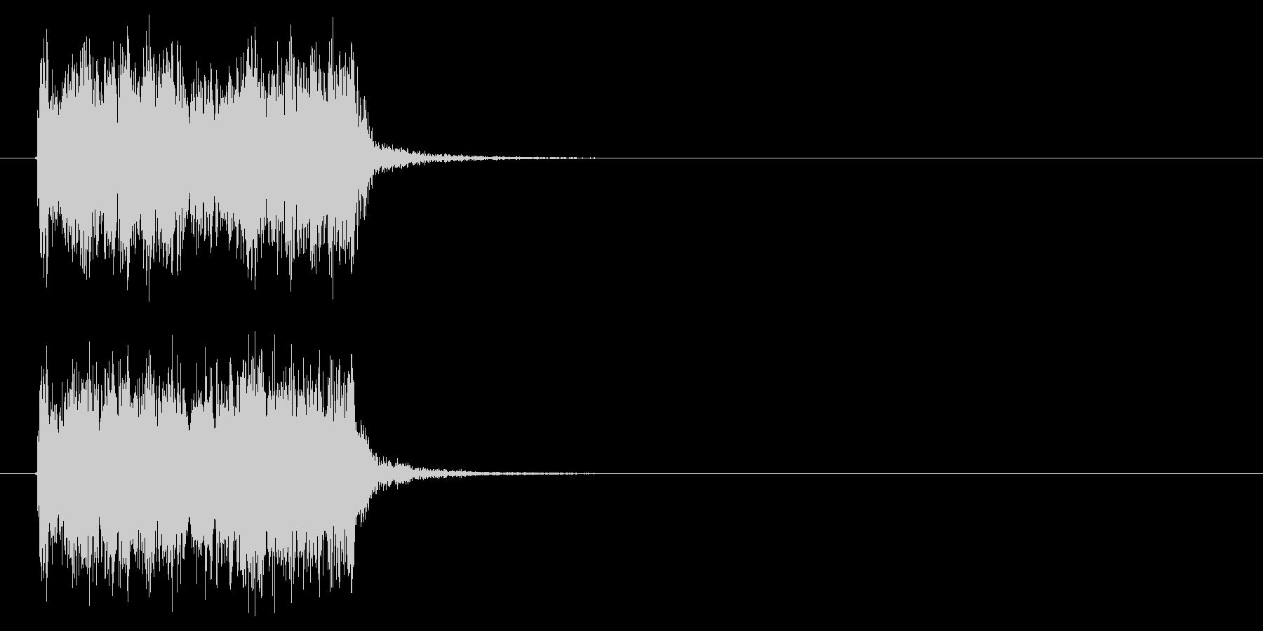 スピーディーで勢いのあるジングルの未再生の波形