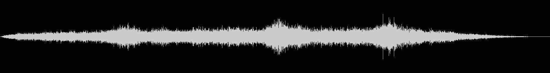 エスニックムード満載アンビエントな風音の未再生の波形