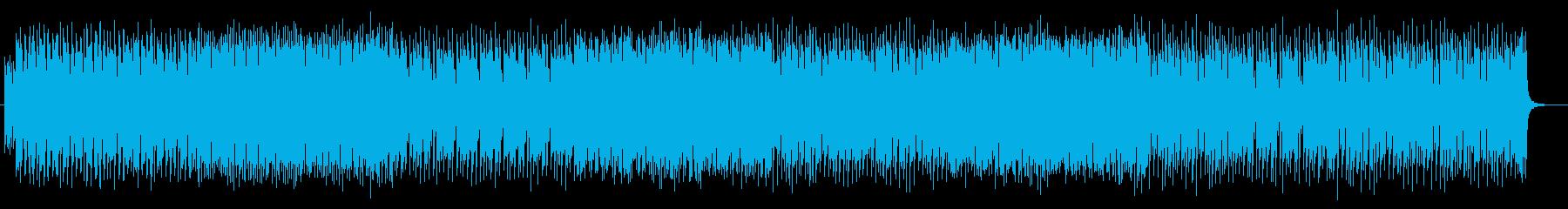 迫力と疾走感のあるシンセサイザーサウンドの再生済みの波形