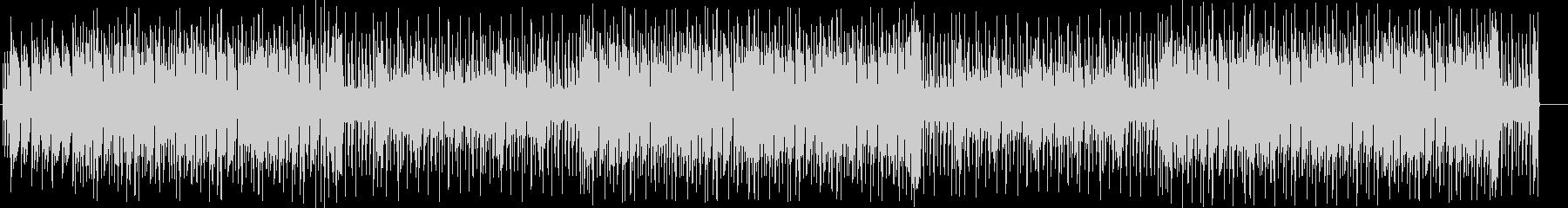 レトロな音色で今風の曲調のBGMの未再生の波形