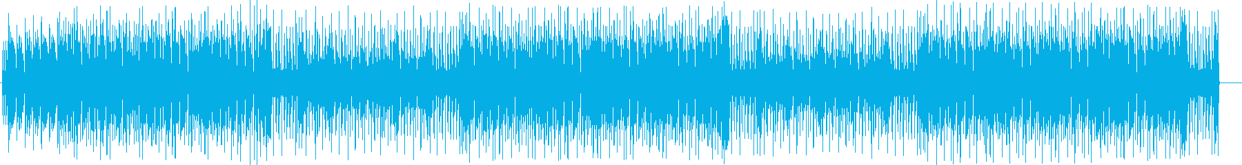 レトロな音色で今風の曲調のBGMの再生済みの波形