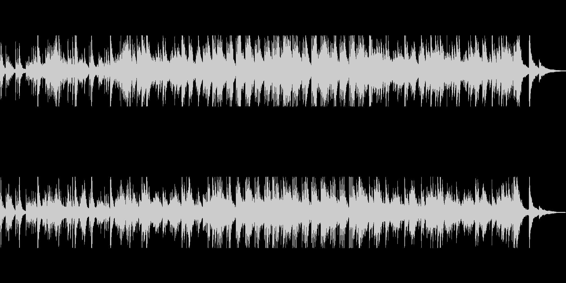 ピアノメインのしっとりと幻想的なBGMの未再生の波形