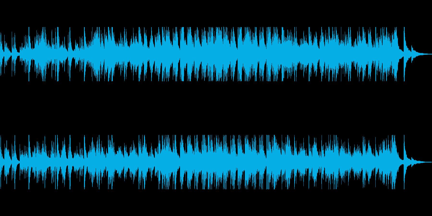 ピアノメインのしっとりと幻想的なBGMの再生済みの波形