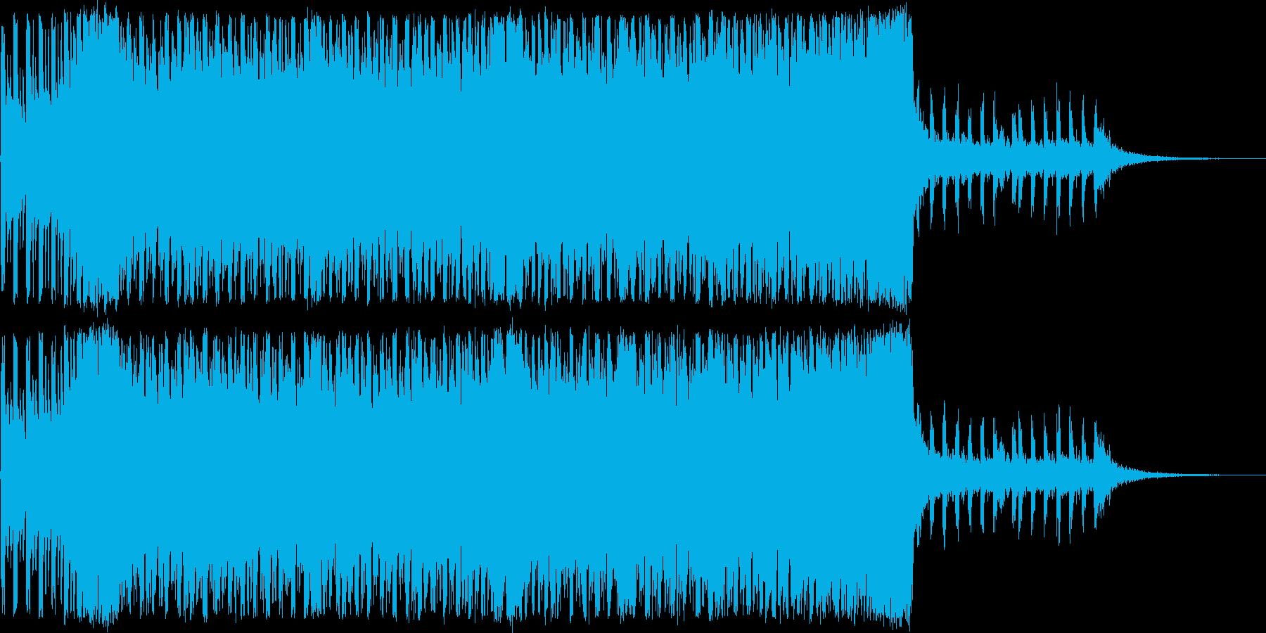 ドラマチックなトランスの再生済みの波形