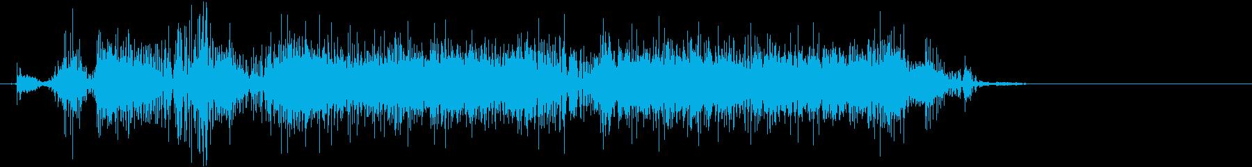 ゾンビ、怪物、モンスターのうめき声の再生済みの波形