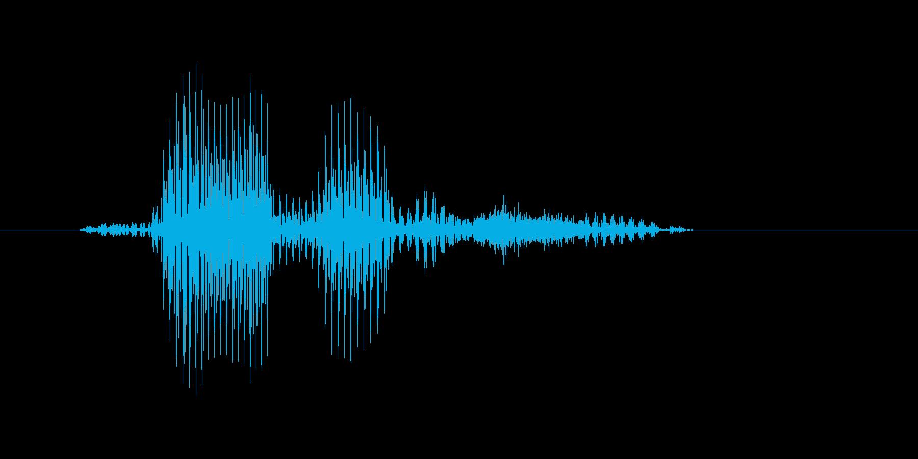 ダブルスの再生済みの波形