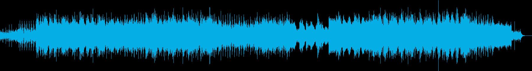 【切ないバラード系】テクノロックBGMの再生済みの波形