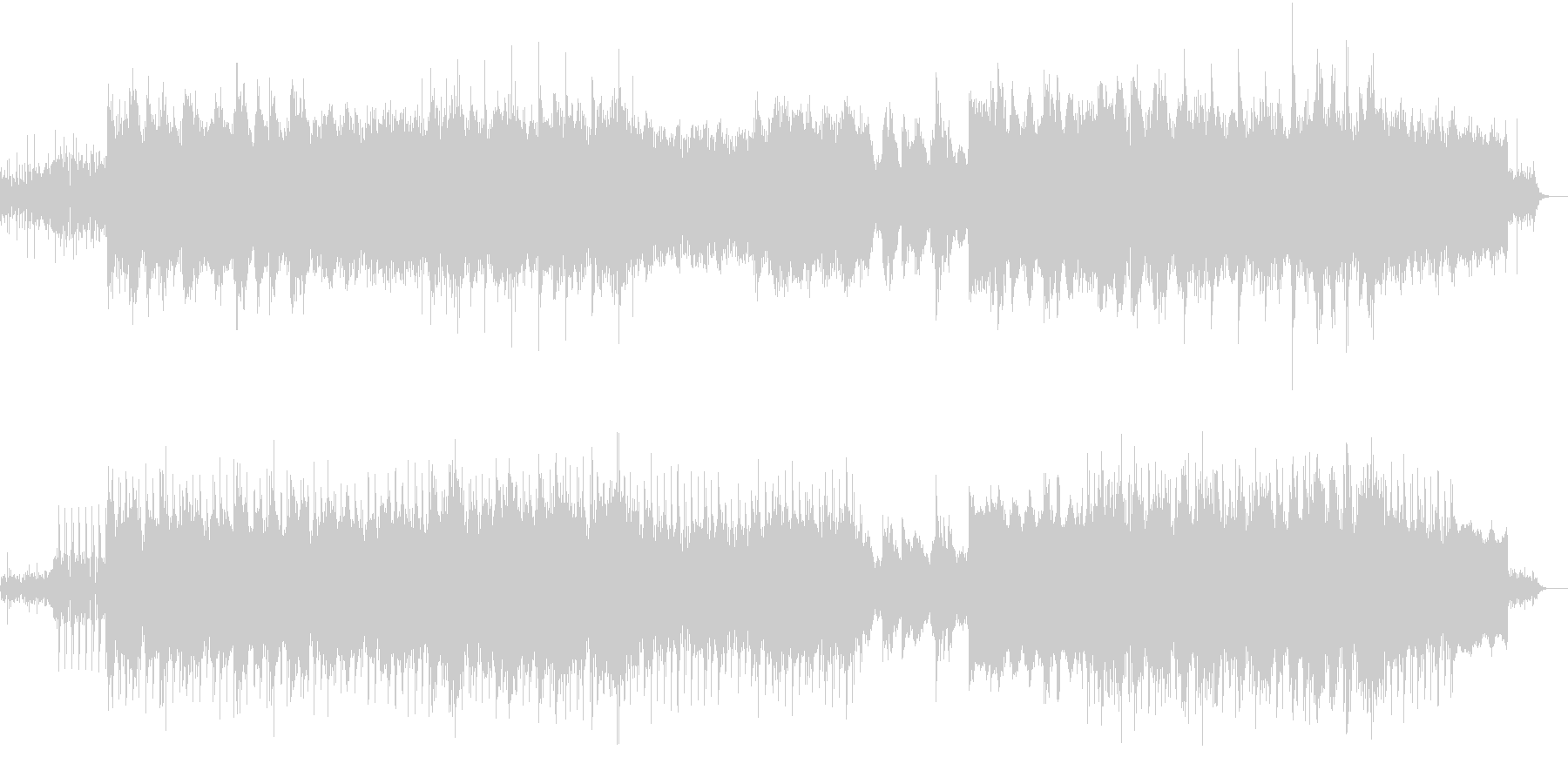 【切ないバラード系】テクノロックBGMの未再生の波形