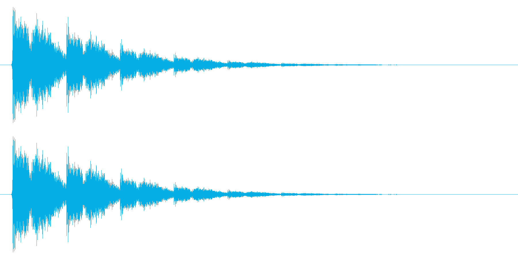 銃声01-4の再生済みの波形