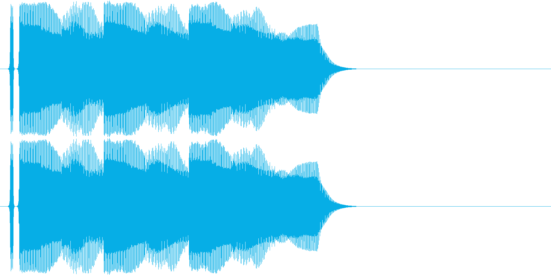 正解音です。の再生済みの波形