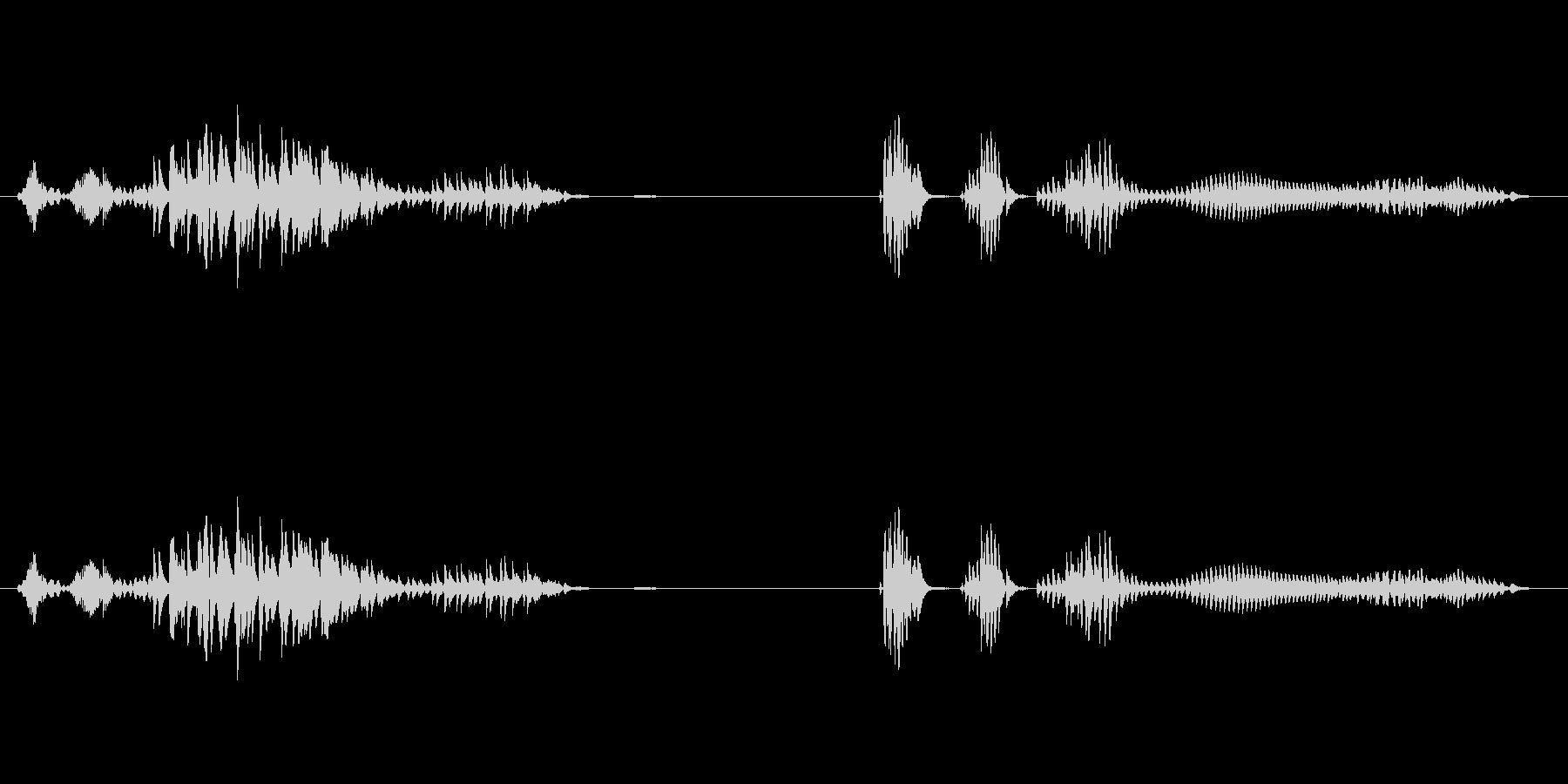 お腹が鳴る02の未再生の波形