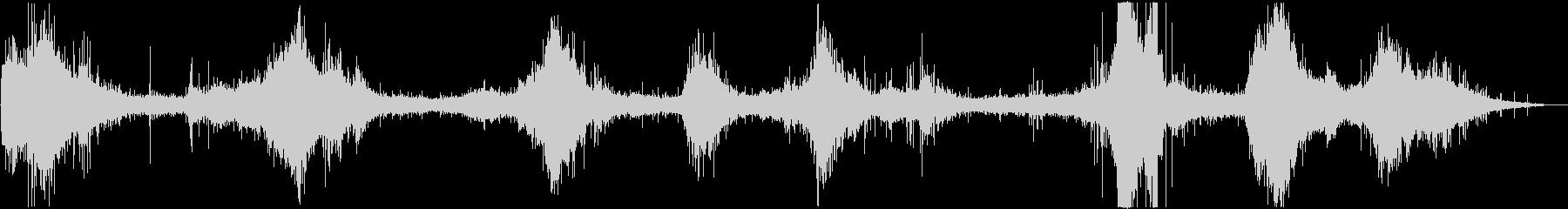 バイノーラル録音 穏やかな波の音の未再生の波形
