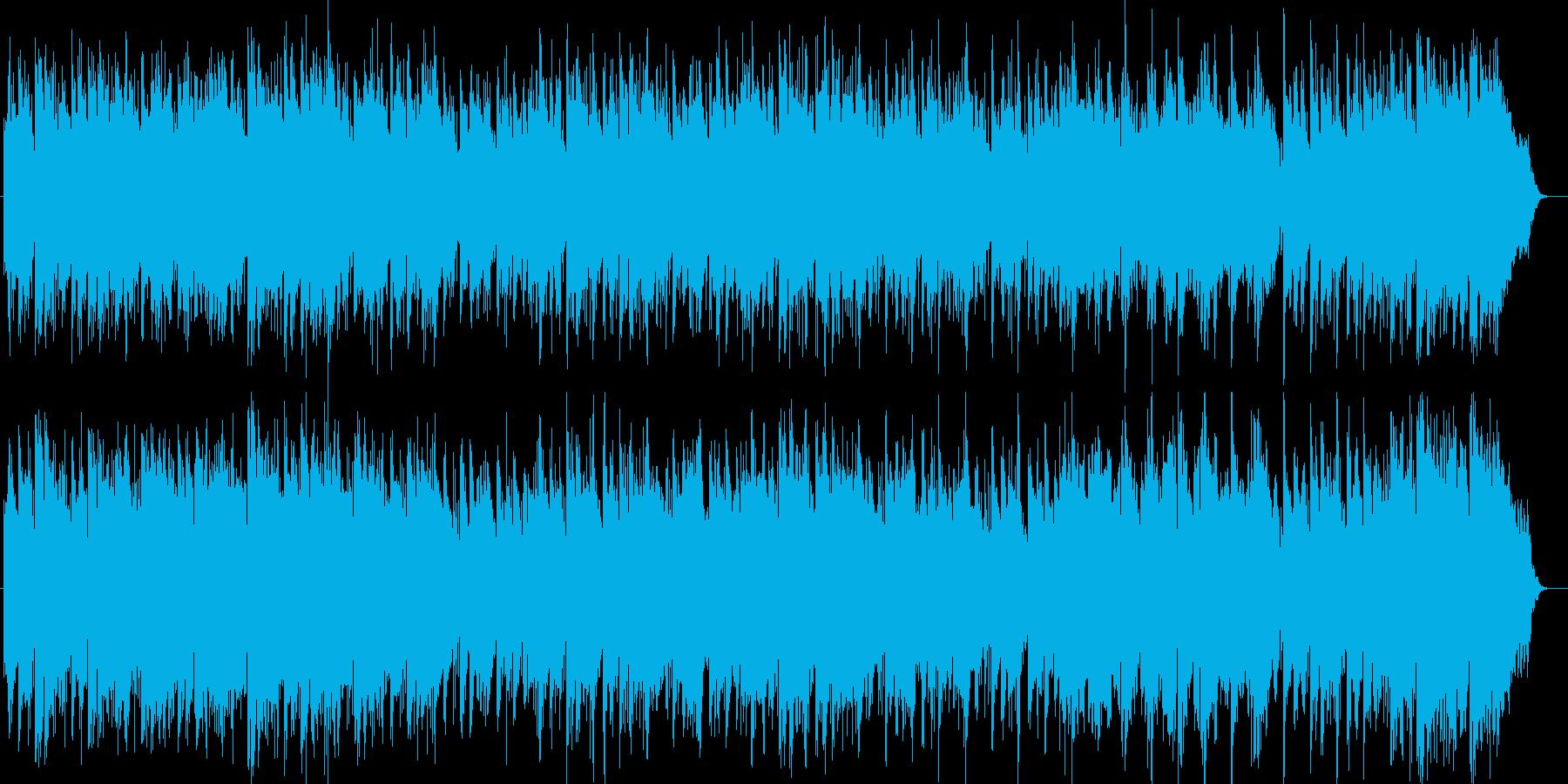 通り雨のようなポップ曲の再生済みの波形